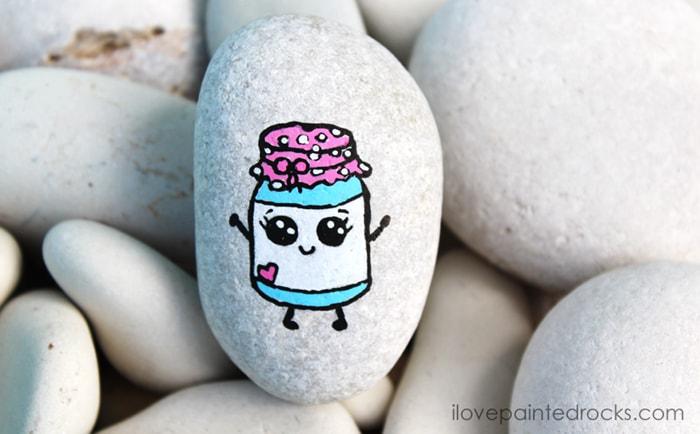 draw so cute rock painting idea