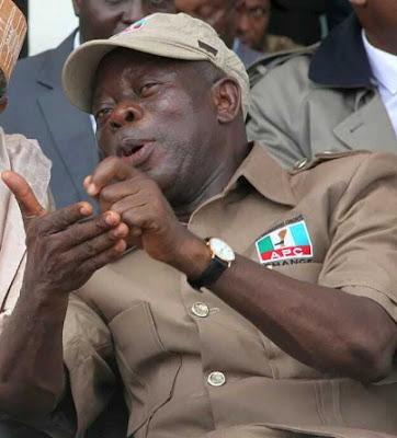 oshiomhole blames retired military men nigeria problem