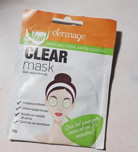 Clear Mask Argila Branca Dermage - mascara antioleosidade