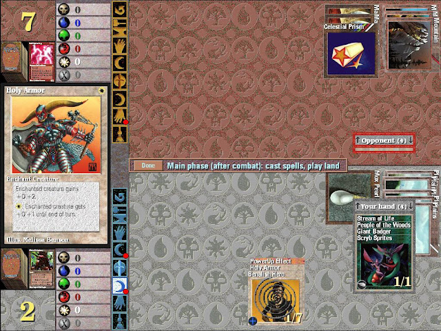 Magic the Gathering | Holly Armor in Play