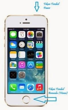 Cara Screen Shot Layar iPhone