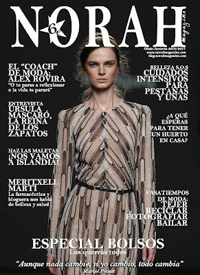 Norah Magazine y AmapolaBio, cosmetica ecologica de lujo. Portada