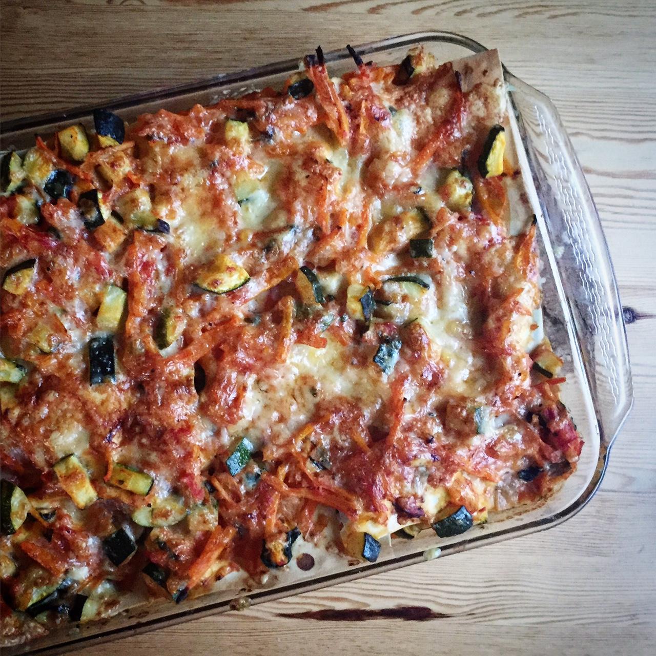 den bästa vegetariska lasagnen