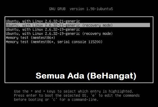 Cara mengembalikan GRUB Linux yang hilang setelah install Windows - BeHangat.Net