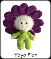 Yoyo flor amigurumi
