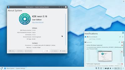 My Personal Impressions on KDE Plasma 5 16 | Tux Machines