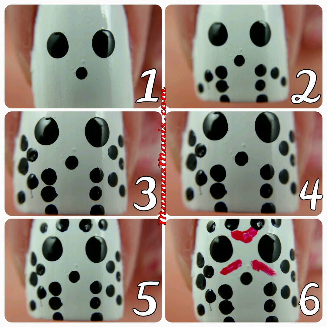 jason voorhees step by step nail art