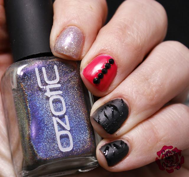 nail challenge collaborative, man glaze, orly, kb shimmer, ozotic, punk rock nails