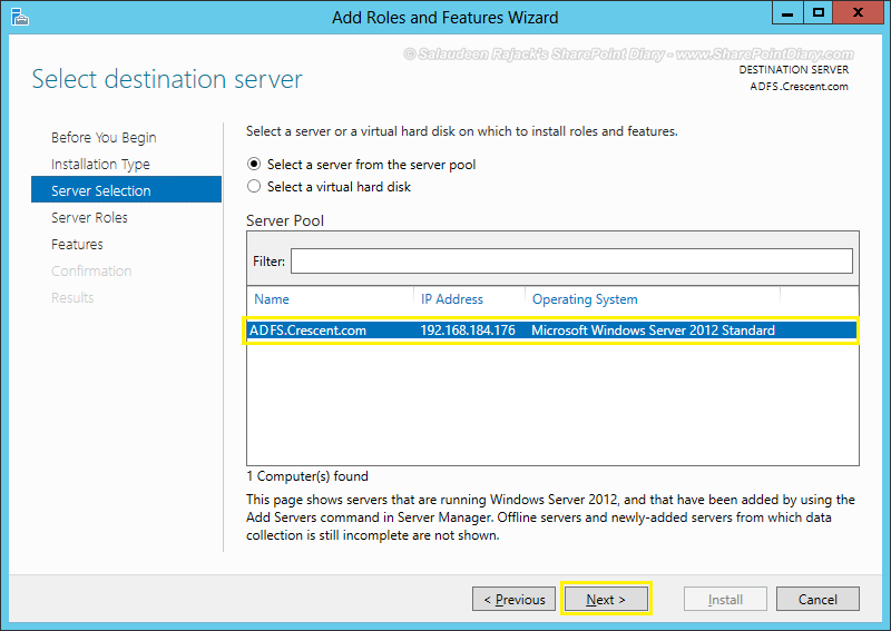 sharepoint 2016 adfs integration