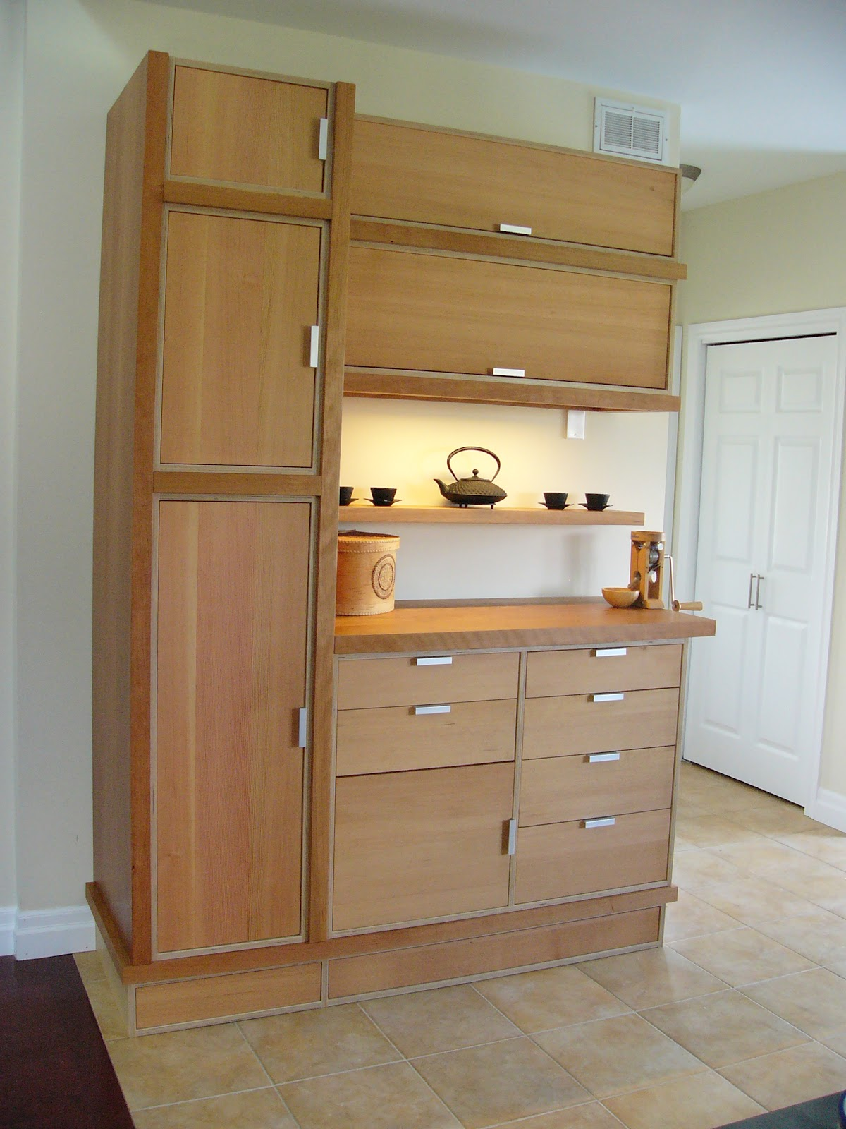 Custom Kitchen Pantry Cabinets Pan