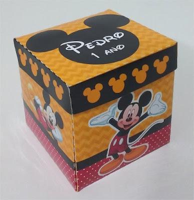 1-convite personalizado na caixinha do desenho mickey