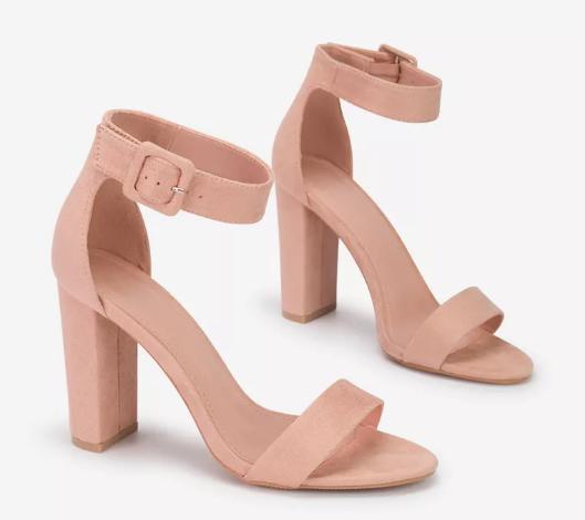 Sandale ieftine de femei roz cu toc moderne si frumoase