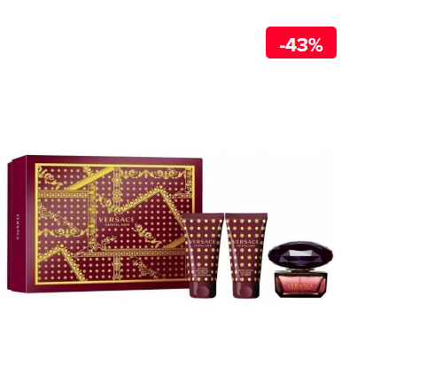 Set cadou Versace femei Crystal Noir (Apa de toaleta 50 ml + Gel de dus 50 ml + Gel de dus 50 ml)