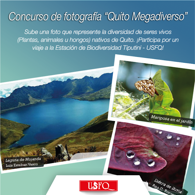 "Concurso Fotográfico ""Quito Megadiverso"" 2016"
