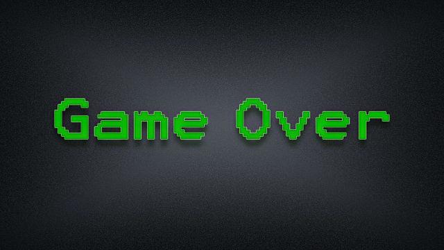 Game Over 8-bit - Fond d'écran en Full HD