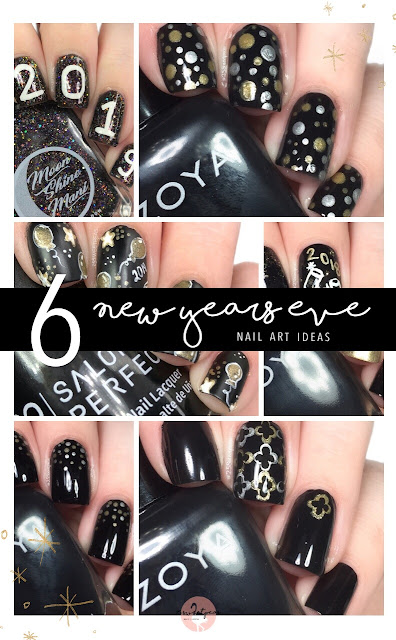 6 New Years Eve Nail Art Ideas