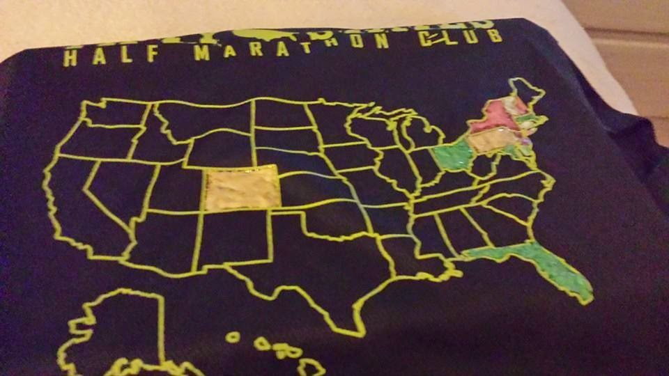50 States Half Marathon Challenge And 50 States Endurance Challenge Shirt Painting Tips And Ideas Black 50 States Shirt Painted With Scribbles 3d Fabric Paint