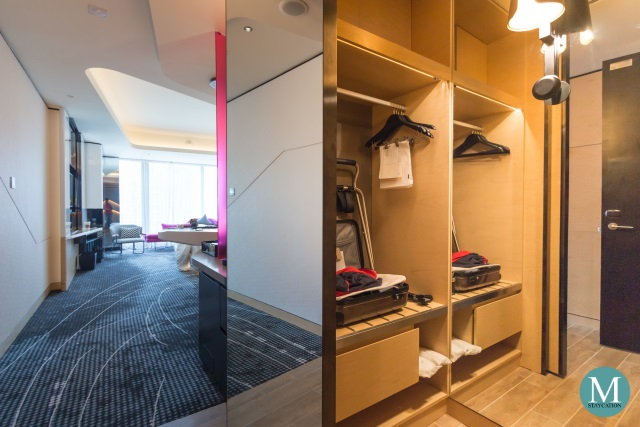 Closet Cabinet in a Wonderful Room at W Hotel Kuala Lumpur