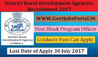 District Rural Development Agency Recruitment 2017– 18 Block Program Officer