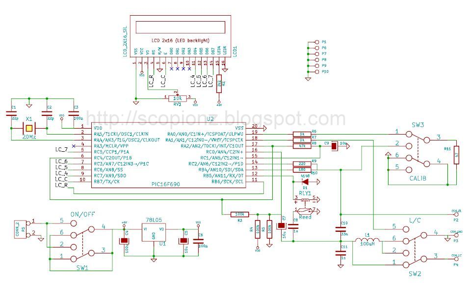 Simple and Accurate LC Meter Circuit - 16F690 ~ Scorpionz