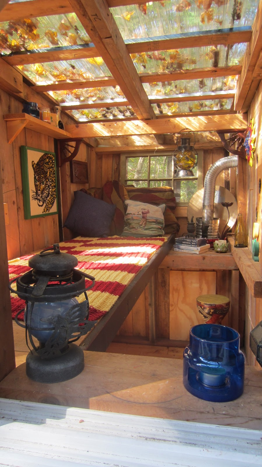Relaxshacks Com Why I Like Clear Roofing In My Tiny