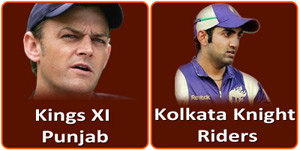 आइपीएल 6 का बीसवां मैच किंग्स एलेवेन पंजाब और के कोलकाता नाइट राइडर्स बीच होना है।