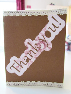 Thank you, card, photo embellishment, crafting
