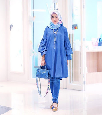 Inspirasi Model Baju Lebaran ala Lulu El Hasbu