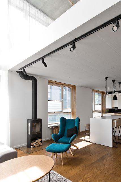 Дизайнерские проекты. Шикарный скандинавский лофт в Вильнюсе