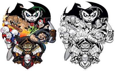"""Suicide Squad """"SKWAD"""" Print by Tracy Tubera - Full Color and Black & White Editions"""