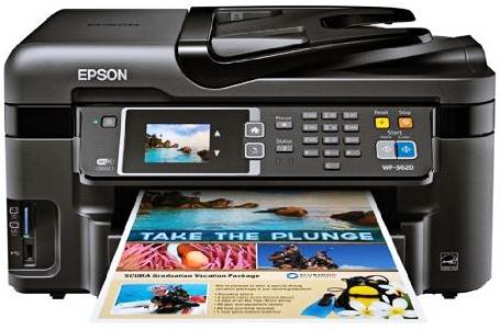 The Epson WorkForce WF3620 Wireless Color All in One Printer