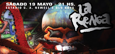 La Renga actuará el 19 de mayo en el estadio de Newell's Old Boys.
