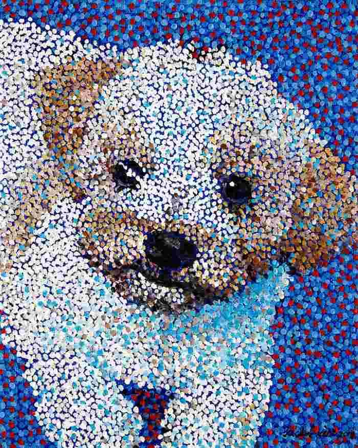 Из цветных точек и отдельных штрихов. Juchul Kim