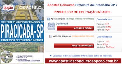 Apostila Prefeitura de Piracicaba professor 2017