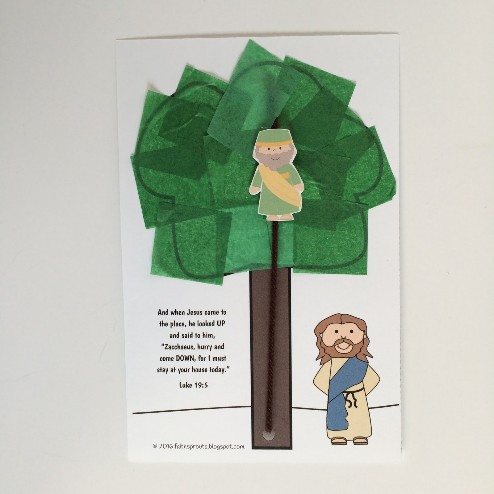 Faith Sprouts Jesus Changed Zacchaeus Heart