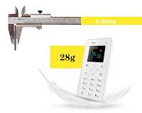 Ультра тонкий AIEK M5 мобильный телефон размером не больше кредитки - товары из интернет-магазинов