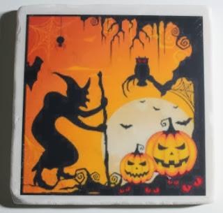 Halloween Coasters with Craft Attitude 2