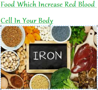 Food Which Increase Red Blood Cell In Your Body