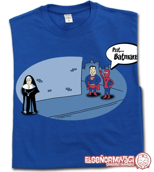 http://www.miyagi.es/camisetas-de-chico/camisetas-de-comics/camiseta-batman-spiderman-superman-monja