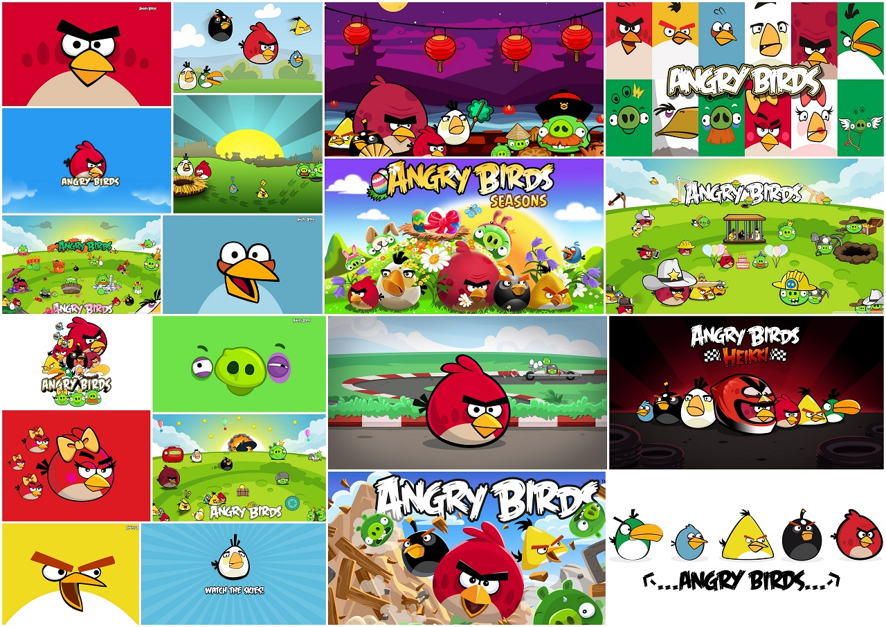 Angry Birds: Free Printable Backgrounds, Invitations or Cards. - Oh ...