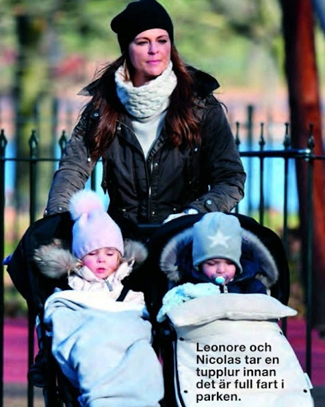 Princess Madeleine wore Alice by Temperley Honeycomb Turtleneck Tunic. Princess Leonore and Prince Nicolas