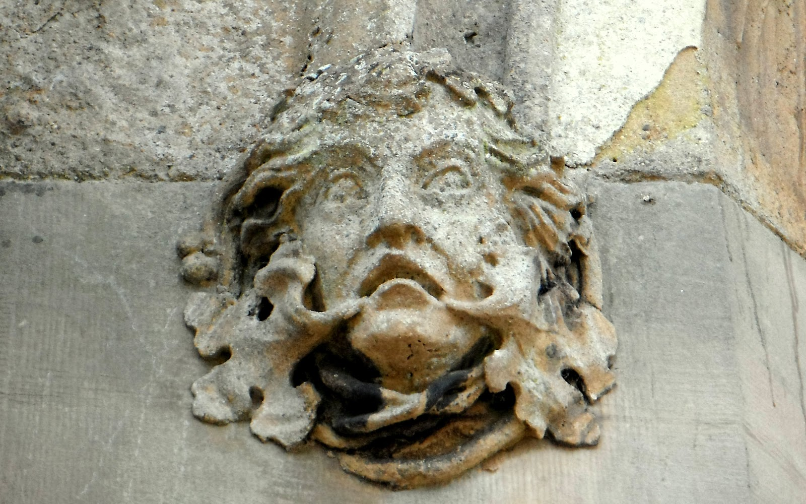 Green Man figure on the archway into Blithfield Hall