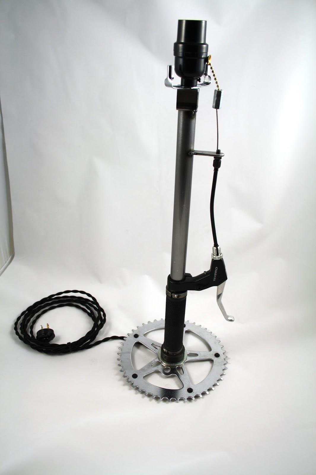 Moto Cycle Metal Works New Bicycle Brake Lever Lamp