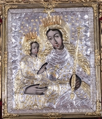 Obraz Matki Bożej Trąbkowskiej trąbki
