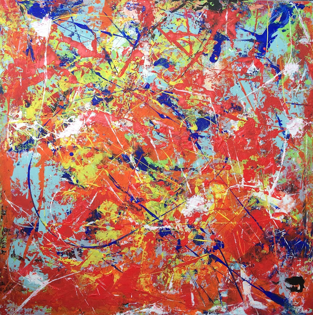 Andreea Zecheru Abstract expressionist contemporary painting