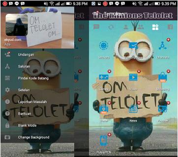 BBM Mod Om TELOLET Om Tema Minions V3.2.0.6 Apk