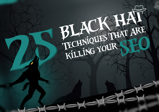 25 Black Hat SEO Techniques That Are Killing Your Website [Infographic]