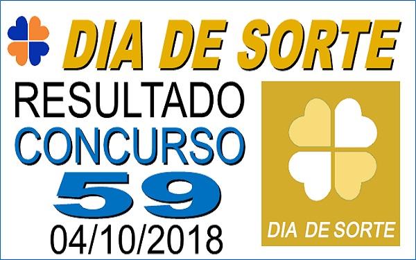 Resultado do Dia de Sorte concurso 59 de 04/10/2018 (Imagem:Informe Notícias)