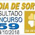 Resultado do Dia de Sorte concurso 59 (04/10/2018)