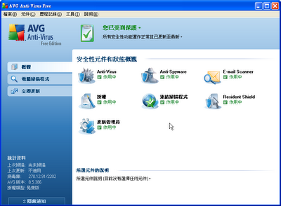 免費防毒軟體2019推薦 AVG AntiVirus Free Edition